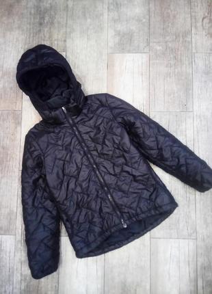 152см.|11-12л. демисезонная куртка, удлинённая сзади,капюшон h&m sport