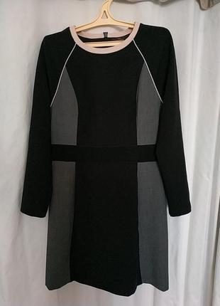 Офисное платье с длинными рукавами, р 16