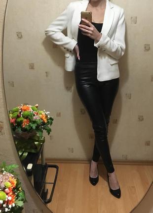 ◻️белый строгий пиджак/классический белый пиджак◻️