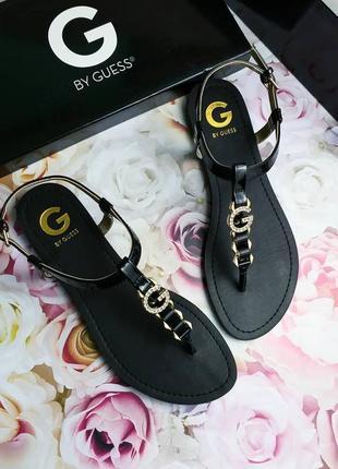 Guess оригинал черные сандалии римлянки