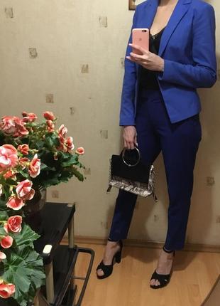 🔷синий строгий пиджак/классический синий пиджак/приталенный пиджак🔷