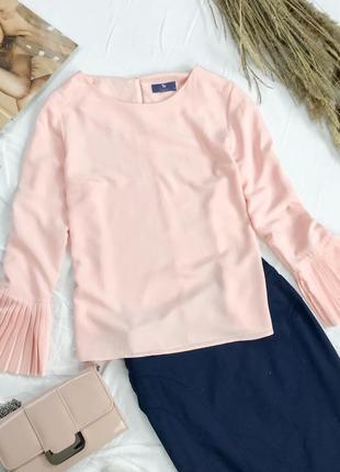 Блуза нежного цвета с красивыми манжетами bl 1949120   tu