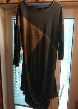 Платье трикотаж р 56