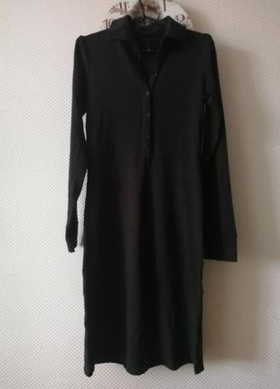 Длинное платье / с рукавом /трикотаж / зима / тёплое / кофейный цвет /оверсайз