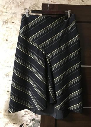 Эффектная юбка в косую полоску,коттон 2.biz,германия