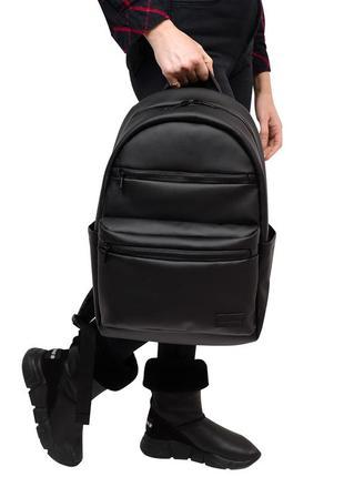 Черный женский рюкзак для учебы, прогулок