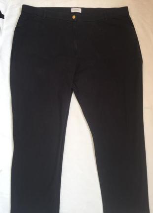 Супер джинсы джеггинсы стреч жен черные 6xl (60)