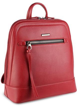 Стильный женский рюкзачок david jones красного цвета
