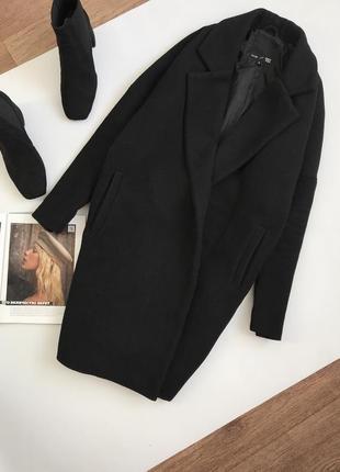Шерстяное оверсайз пальто