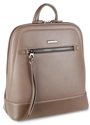 Стильный женский рюкзачок david jones коричневого цвета