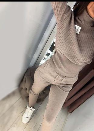 Костюм вязаный двойка штаны свитер