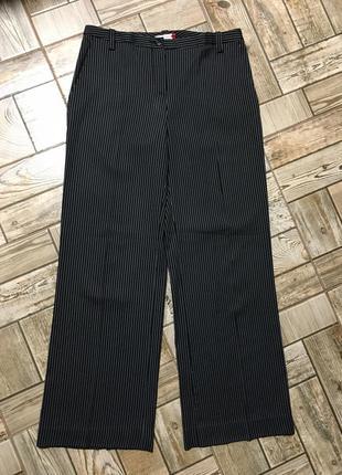 Роскошные шерстяные брюки палаццо в полоску,италия!