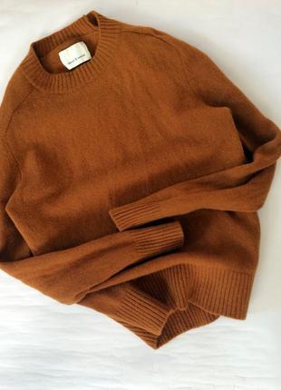 Крутой актуальный шерстяной свитер samsoe samsoe джемпер очень теплый мягкий