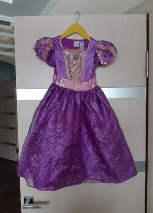 Карнавальное платье принцесса рапунцель disney 3-4 года