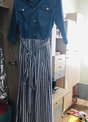 Платье джинс коттон