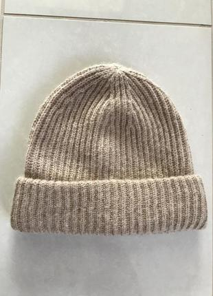 Шапка зимняя шерстяная стильная модная hm размер s/m