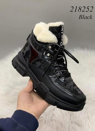 Стильные зимние ботинки кроссовки женские
