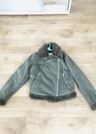 Куртка дубленка фирмы pull bear