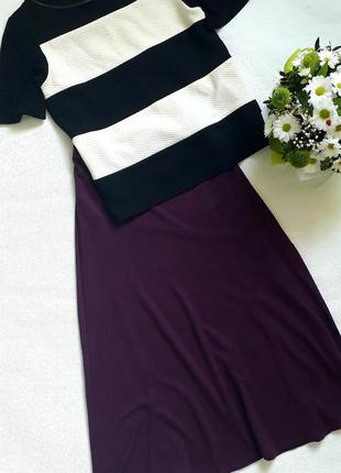 Новая трикотажная юбка uk 14 bonmarche осень-зима, кофточка zara