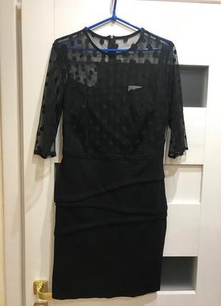 Платья черное с сеточкой