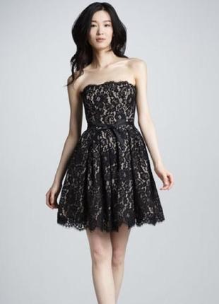 Шикарное гипюровое нарядное праздничное платье robert rodriguez m-l 12