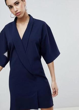 Элегантное платье смокинг кимоно от asos