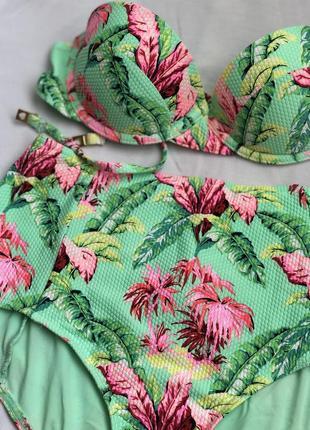 Купальник topshop с пальмами