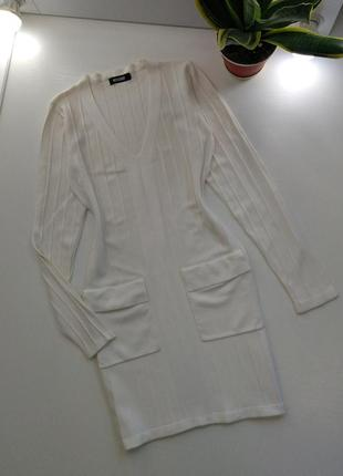 Missguided белоснежное тёплое платье ⛔последние часы акции 3+1=3 каждая 4 вещь в подарок⛔