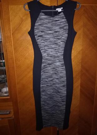 Платье по фигурке миди h&m