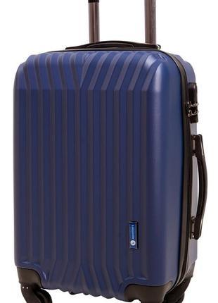 Дорожный чемодан на 4 колесах маленький( 140 dark blu )