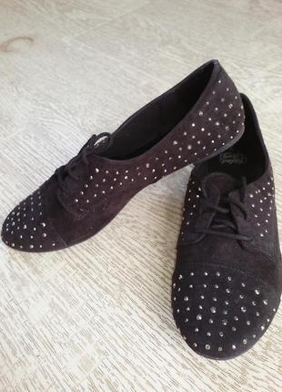 Новые туфли, балетки замш.