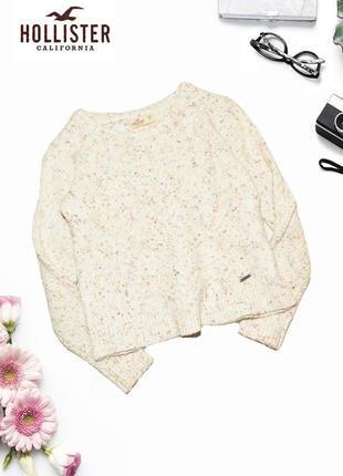 Теплый укороченный свитер с альпакой hollister