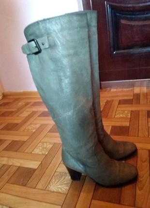Зимові чоботи ботфорди