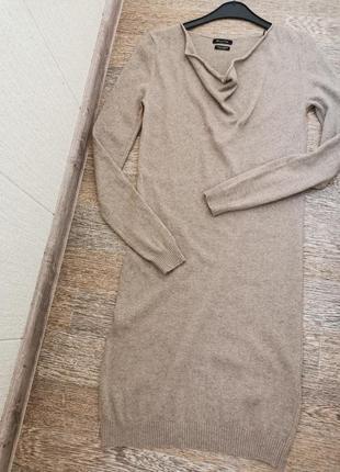 Платье-джемпер тонкой вязки шесть+кашемир massimo dutti