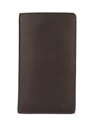 Мужское кожаное портмоне, купюрница tony perotti темно-коричневого цвета