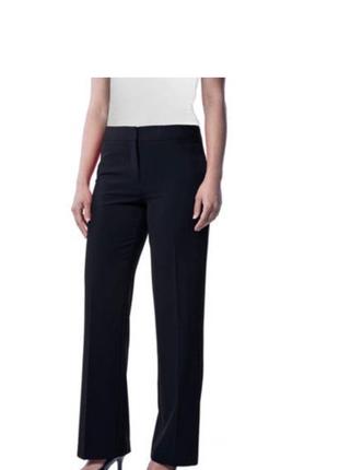 Новые чёрные брюки повседневные классика офис размер uk 12 m/ l высокий рост