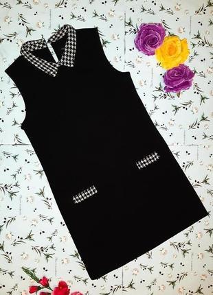 🌿1+1=3 базовое черное платье с караманами cache cache, размер 42 - 44, франция