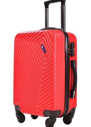 Стильный дорожный чемодан на 4 колесиках (131 red)