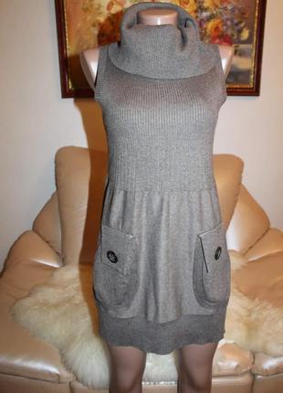 Красивое и теплое платье с шерстью
