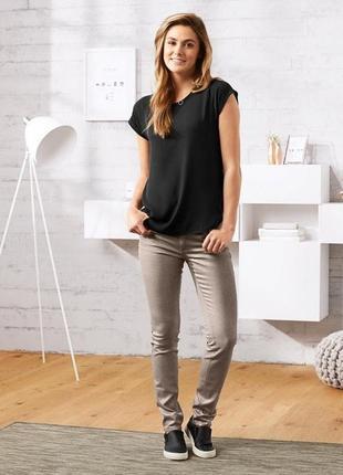 Нарядные джинсы с серебристым напылением tcm tchibo