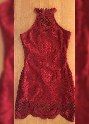 Ажурное платье,красивое платье,нарядное платье,платье сзади змейка,платье missguided