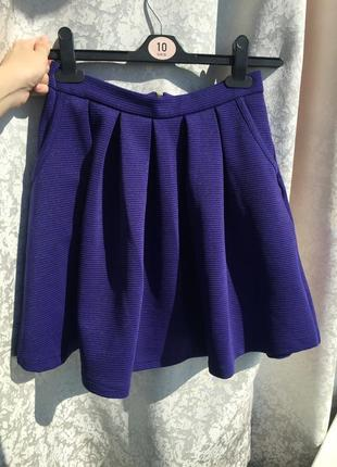 Юбка солнце new look, размер s, пышная фиолетовая