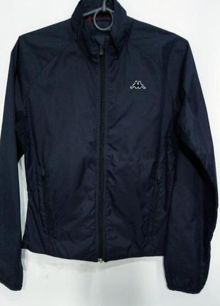 Kappa куртка ооимпийка спортивная женская размер s темно синяя