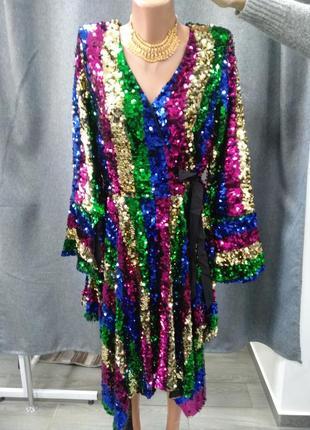 Платье нарядное паетка