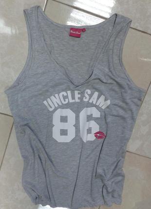 Майка топ для спорта и релакса 50-52 uncle sam