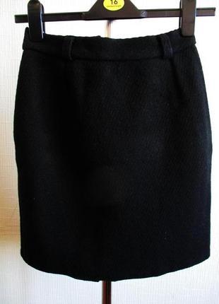Шерстяная плотная теплая юбка 100%шерсть