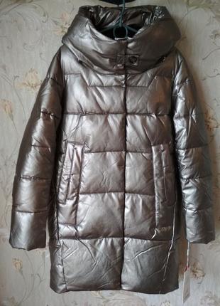 Распродажа! новое зимнее женское пальто эко кожа 50р/куртка зима