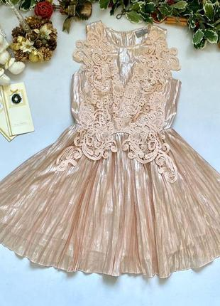 Шикарное нарядное перламутровое платье от asos
