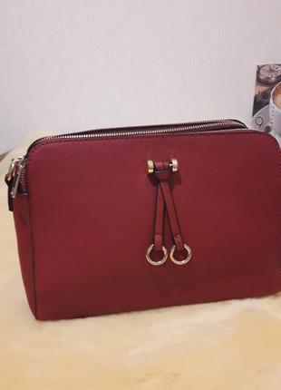 Сумка сумочка на плечо красная среднего размера