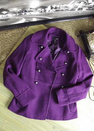 Шерстяное пальто (полупальто) h&m.